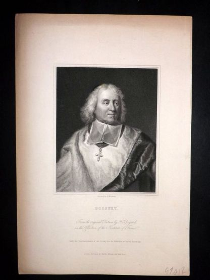 Charles Knight (Pub) 1830's Antique Portrait Print. Bossuet
